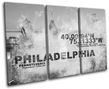 Philadelphia USA City Typography - 13-2123(00B)-TR32-LO